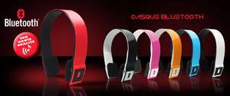 Casque audio Bluetooth avec microphone intégré, 6 coloris au choix