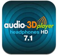 Application iOS - Audio-3D Player Heahphones HD 7.1 Gratuite (Au lieu de 5.49€)