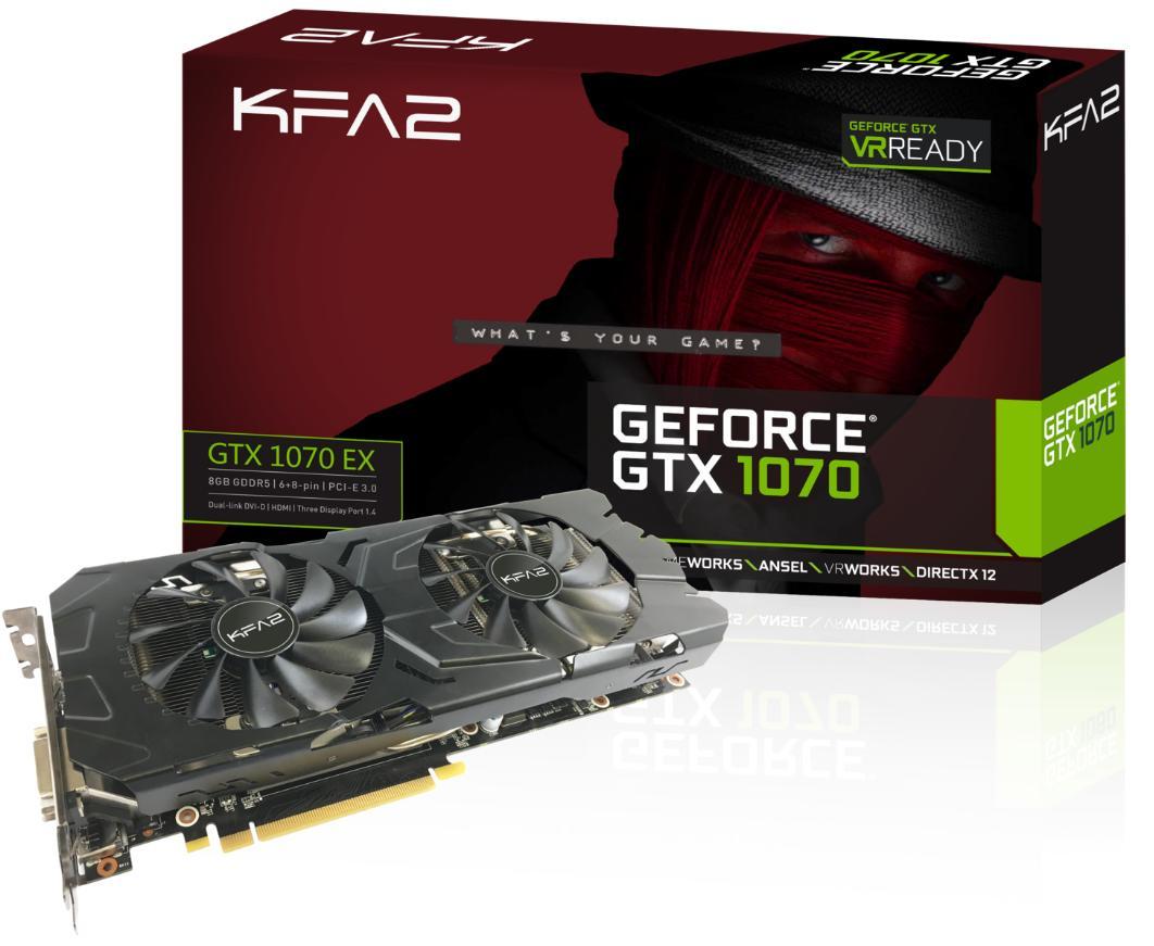 Carte graphique KFA2 GeForce GTX 1070 EX 8Go