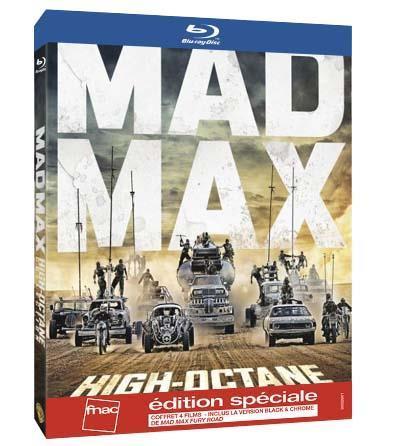 50% de réduction immédiate sur les coffrets Blu-ray/dvd de cette sélection - Ex: Coffret High Octane Mad Max Blu-ray
