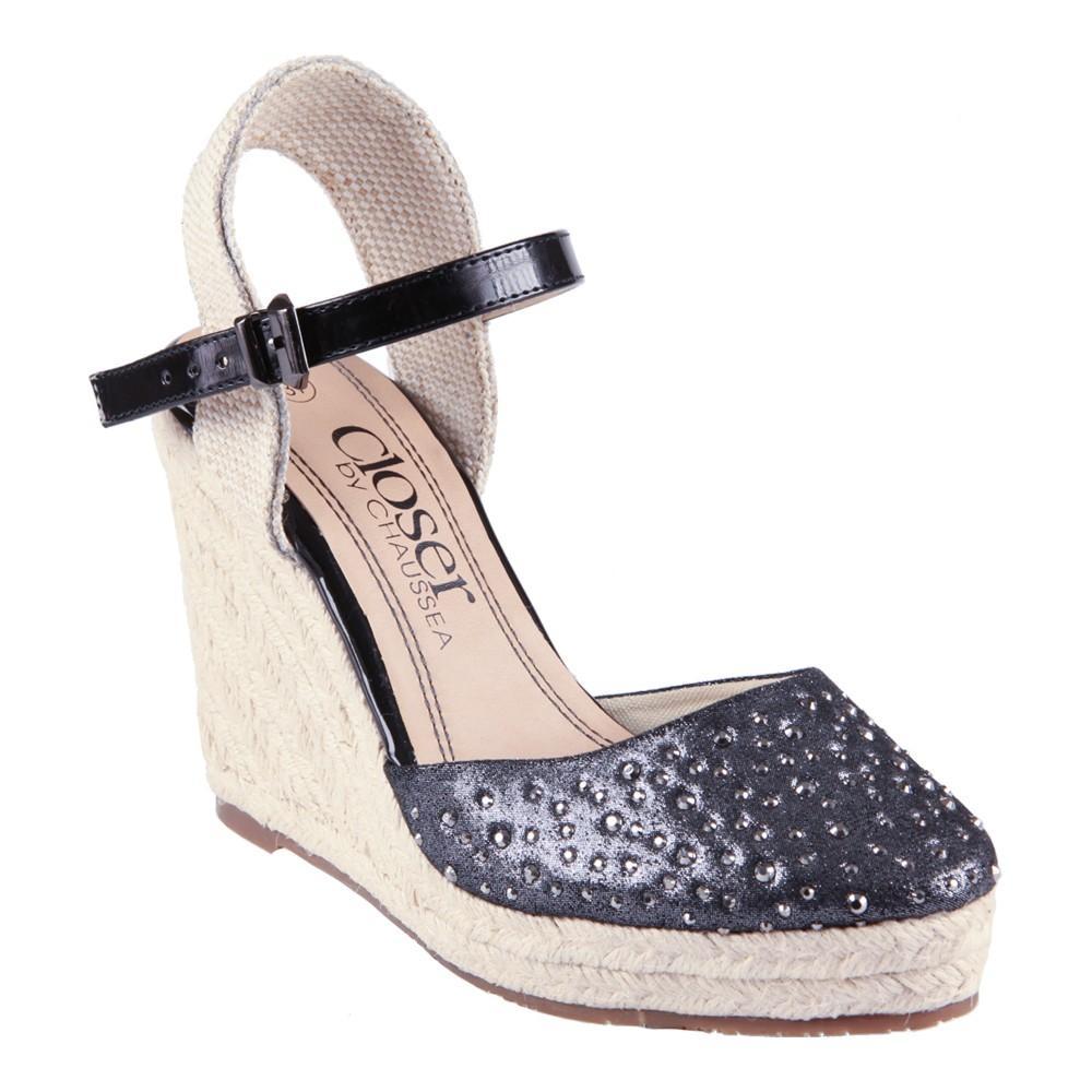 Jusqu'à 70% de réduction sur une sélection de chaussures - Compensé Closer Noir