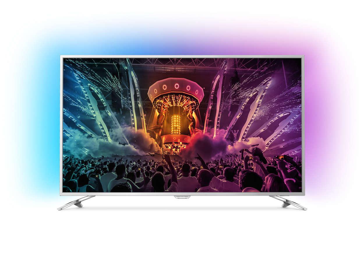 """TV LED 49"""" Philips Ambilight 49PUS6581/12 4K"""