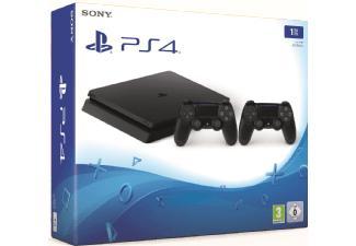 Pack Console PS4 Slim Noir - 1To + 2ème Manette