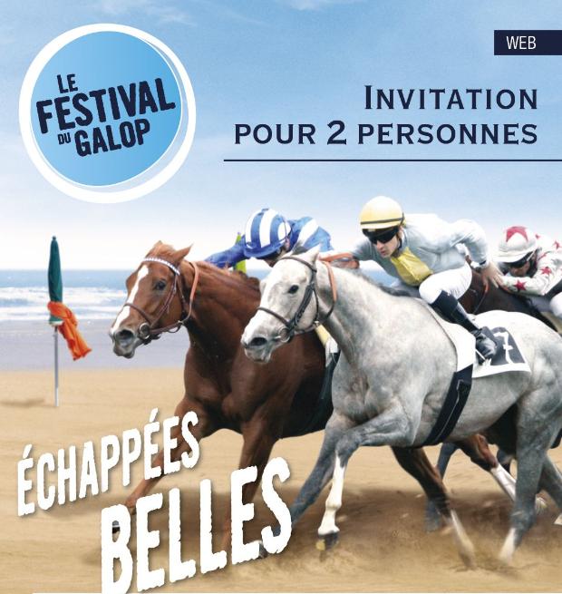 Invitation 2 personnes aux Courses Hippiques de Deauville