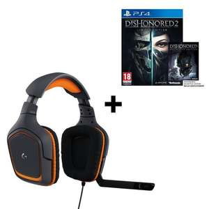 Casque micro Gamer Logitech G231 Prodigy + Dishonored 2 Limited Edition sur PS4 ou Xbox One