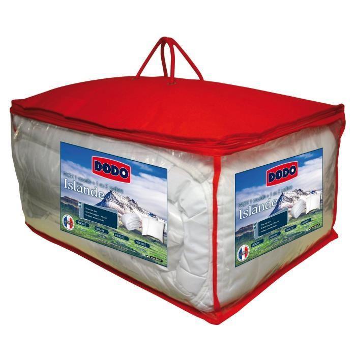 Pack Dodo Islande - 1 couette 220x240 cm + 2 oreillers 60x60cm