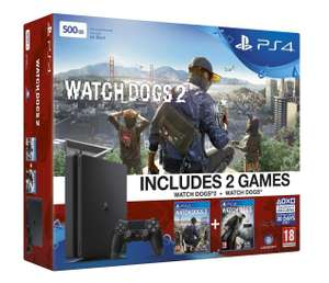 Pack console Sony PlayStation 4 (500 Go) + Watch Dogs 1 & 2