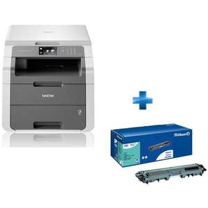 Imprimante Laser couleur mutltifonction Brother DCP-9015CDW + 1x Toner Noir Compatible