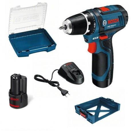 Perceuse-visseuse Bosch GSR 10,8-2-LI Professional 10,8V (1 x 2Ah) + i-Boxx + i-Rack clipsable sur L-Boxx