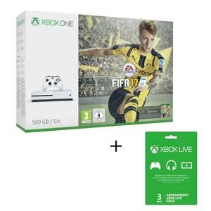 Pack Xbox One S 500Go + FIFA 17 + Abonnement 3 Mois Xbox Live