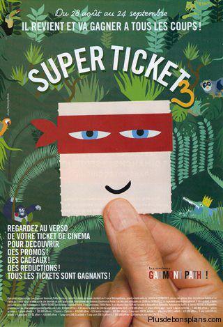 Super Ticket Gaumont  (Places de cinéma moins chères)