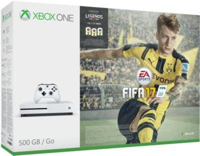 Console Microsoft Xbox One S 500Go + Fifa 17 + Xbox Live 3 mois