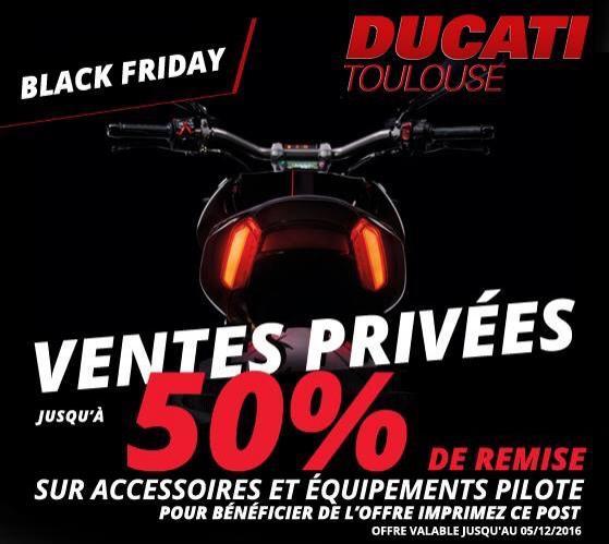 Jusqu'à 50% de réduction sur les accessoires et équipements Ducati