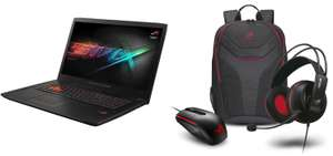 "PC Portable 17.3"" Asus ROG G702VM-GC072T - Full HD, i7-6700HQ, RAM 8 Go, HDD 1 To + SSD 128 Go, GTX 1060 + Sac, Souris et Casque"