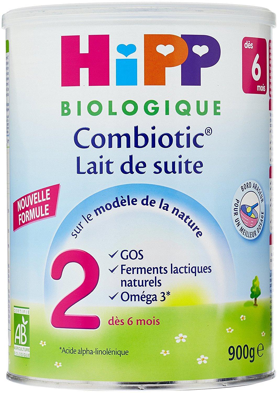 Lait de suite (dès 6 mois) Hipp Biologique 2 Combiotic - 3 boîtes de 900g