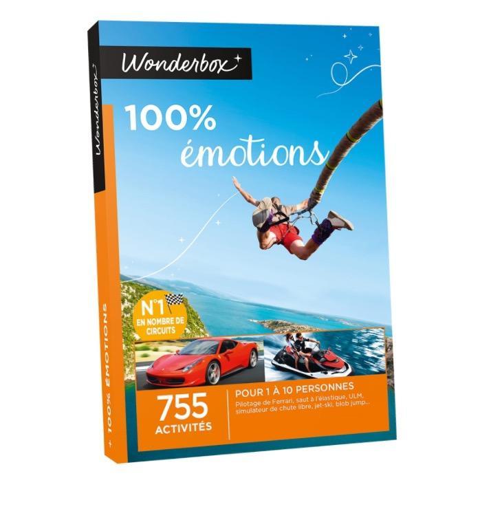 Tous les coffrets Wonderbox à -25% - Ex : coffret 100% émotion