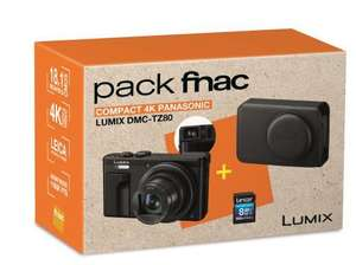 Appareil photo Panasonic Lumix TZ80 - Zoom x30, 18Mpixels + Carte mémoire et étui de protection