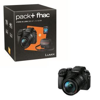 Pack appareil photo numérique hybride Panasonic Lumix DMC-G7 + objectif 14-140 mm ASPH + housse + carte SDHC (8 Go) (via ODR de 100€)