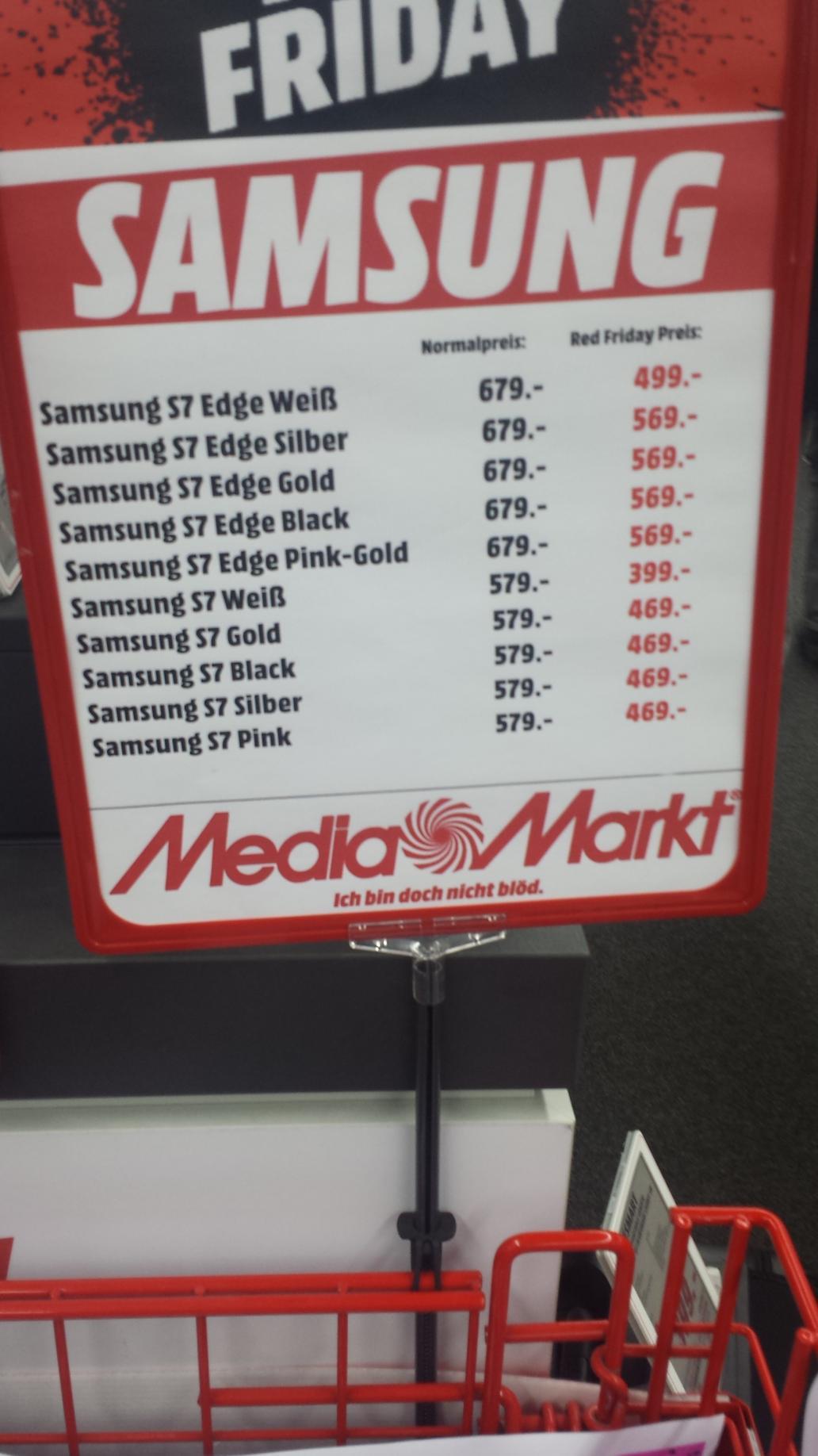 Smartphone Samsung Galaxy S7 à partir de 399€ et Galaxy S7 Edge