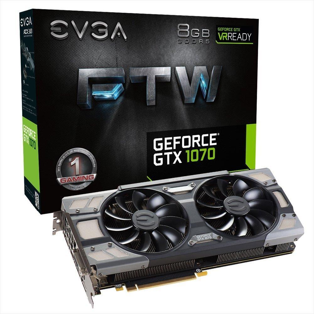 Carte Graphique EVGA GeForce GTX 1070 FTW + Watch Dog 2 offert