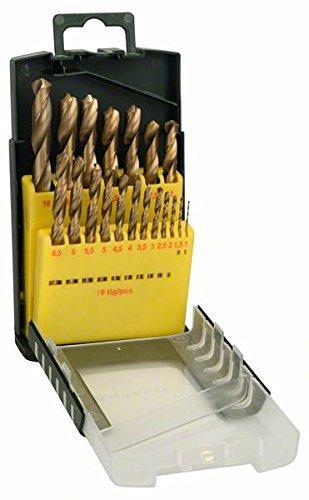 Set de 19 forets à métaux Bosch 2607017152 HSS-Titane - 1 à 10 mm