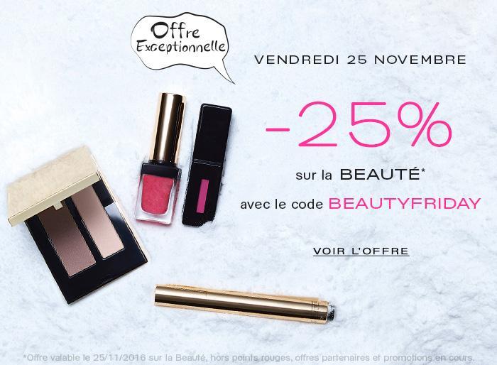 25% de réduction sur la beauté (hors promotions)