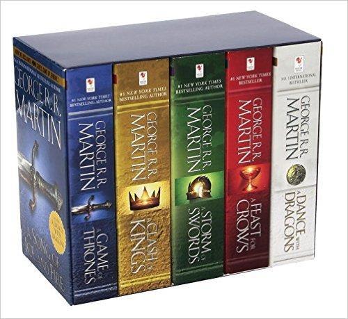 Coffret de livres Games of Thrones - A song of Ice and Fire (en anglais)