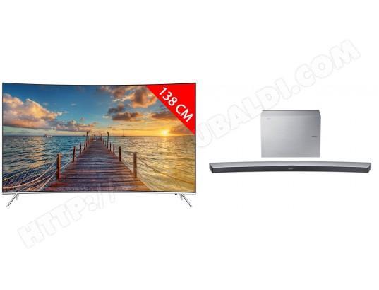 "TV 55"" Samsung UE55KS7500 +  Barre de son HWJ7501R (garantie 5 ans offerte via ODR)"