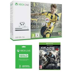 Pack Console Xbox One S 500go + Fifa 17+ Gears of war 4 + Abonnement 3 mois Xbox live