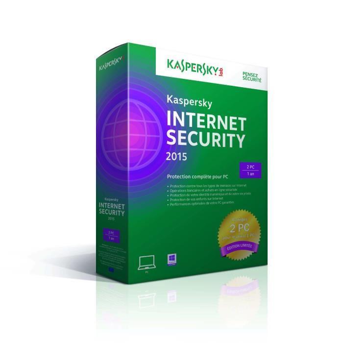 Kaspersky Internet Security 2015 Edition Limitée  (2 postes - 1an)