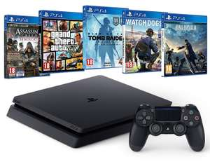 Console Sony PS4 Slim 500 Go + Final Fantasy XV + Watch Dogs 2 + Rise of the Tomb Raider + GTA V + Assassin's Creed Syndicate
