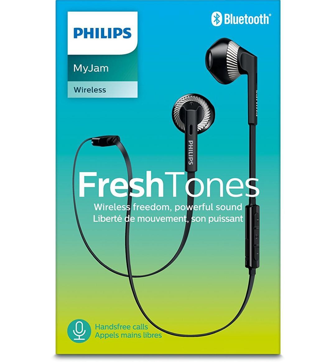 Écouteurs Bluetooth Philips Freshtones MyJam SHB5250BK avec Micro et Commandes sans fil