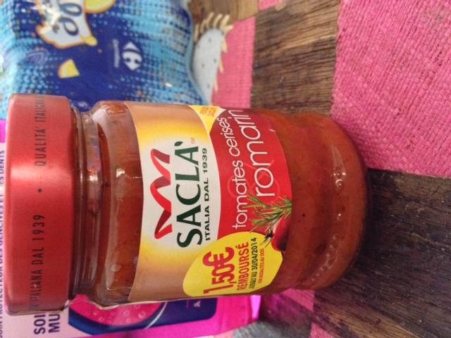 Sauce Sacla tomates cerises origan 190 g