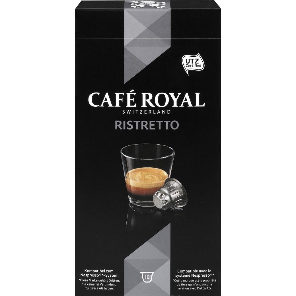 Sélection de café en promotion - Ex : lot de 10 boîtes de 10 capsules Café Royal Ristretto