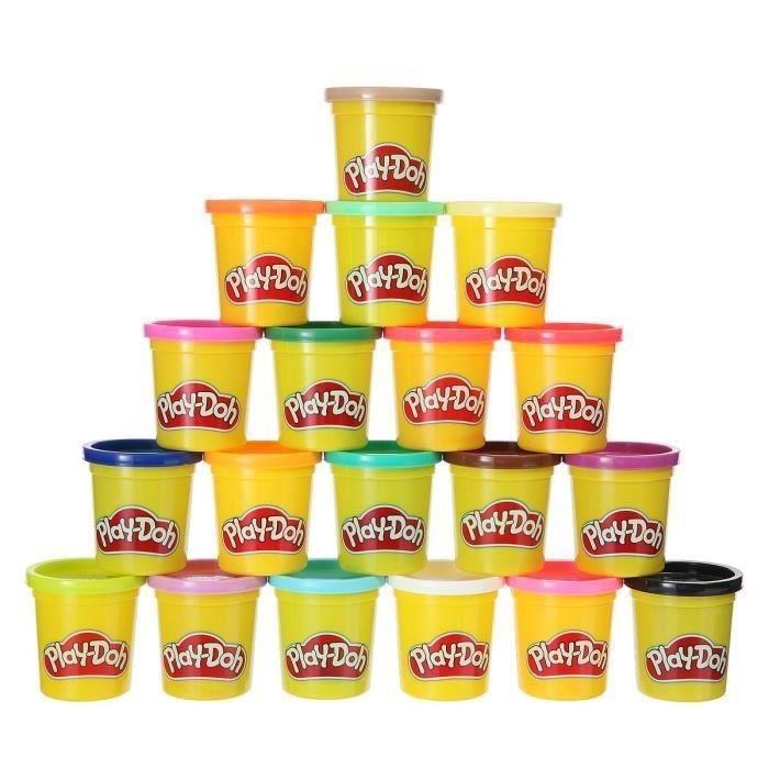 Lot de 20 pots de pâte à modeler Play-Doh - différentes couleurs