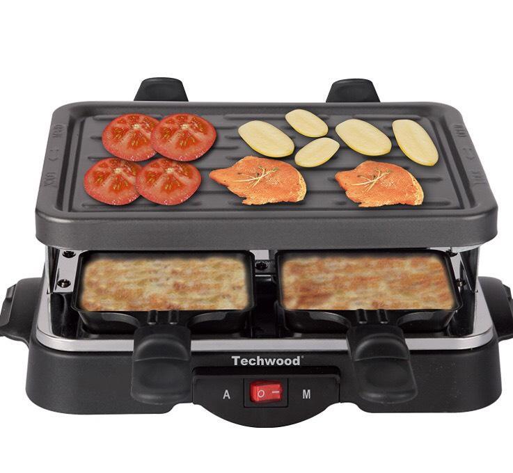 Appareil à raclette Techwood TRA-44 - 500 W (pour 4 personnes)