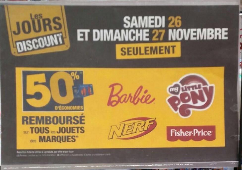 Sélection de jouets (Barbie, Nerf, My Little Pony ...) gratuits via remboursement sur la carte fidélité - Ex: Lot de 5 poupées Barbie gratuites (avec 144.50€ sur la carte)