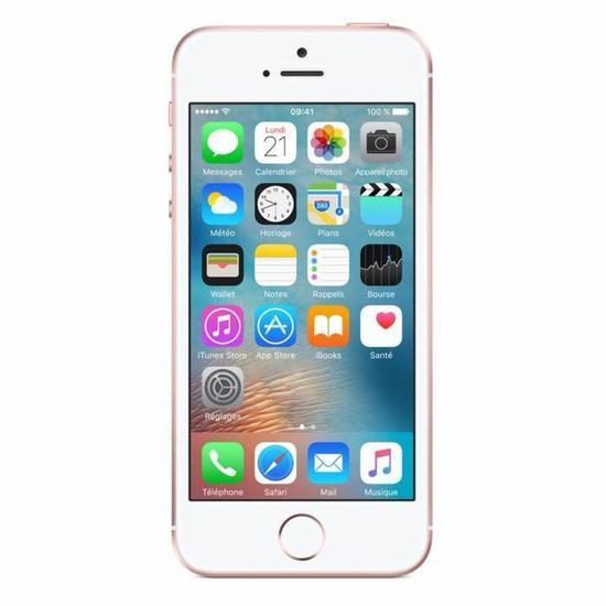 "2 smartphones 4"" Apple iPhone SE - 16 Go, OR Rose"