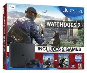 Pack console PS4 Slim 1 To + Watchdog 1 et 2