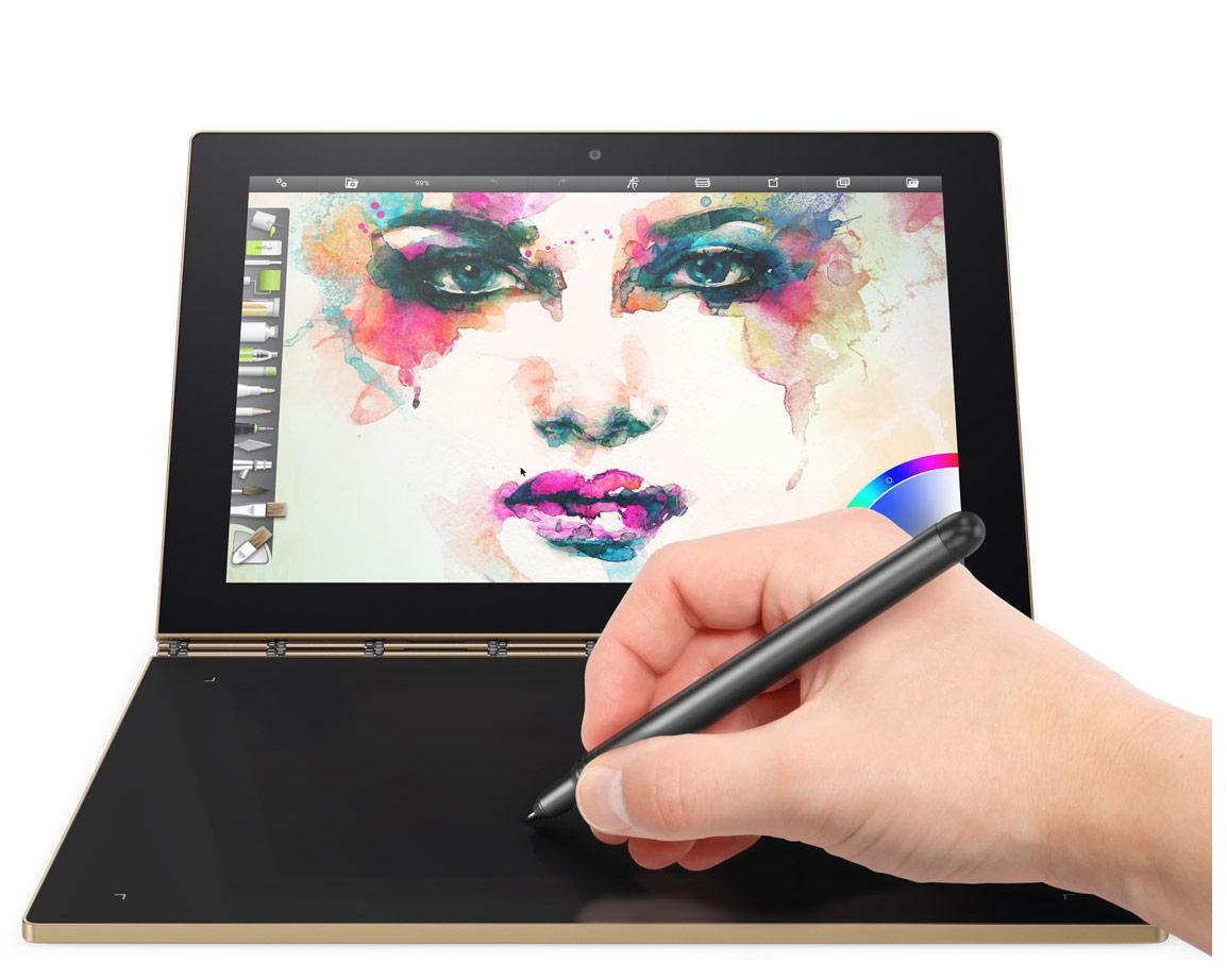 "Tablette 2-en-1 10.1"" Lenovo Yoga Book Android - 64 Go eMMC, RAM 4 Go, Intel Atom x5"