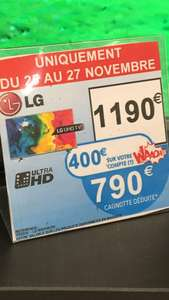 "TV LED 60"" LG 60UH615V - 4K, Smart TV,  HDR (via 400€ sur la carte)"