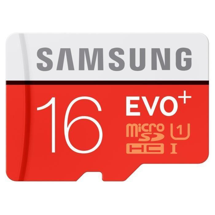 Carte microSD Samsung Evo Plus 16 Go avec adaptateur