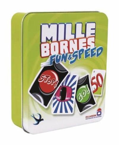 Jeu de cartes Mille Bornes Fun and Speed - Boîte métal
