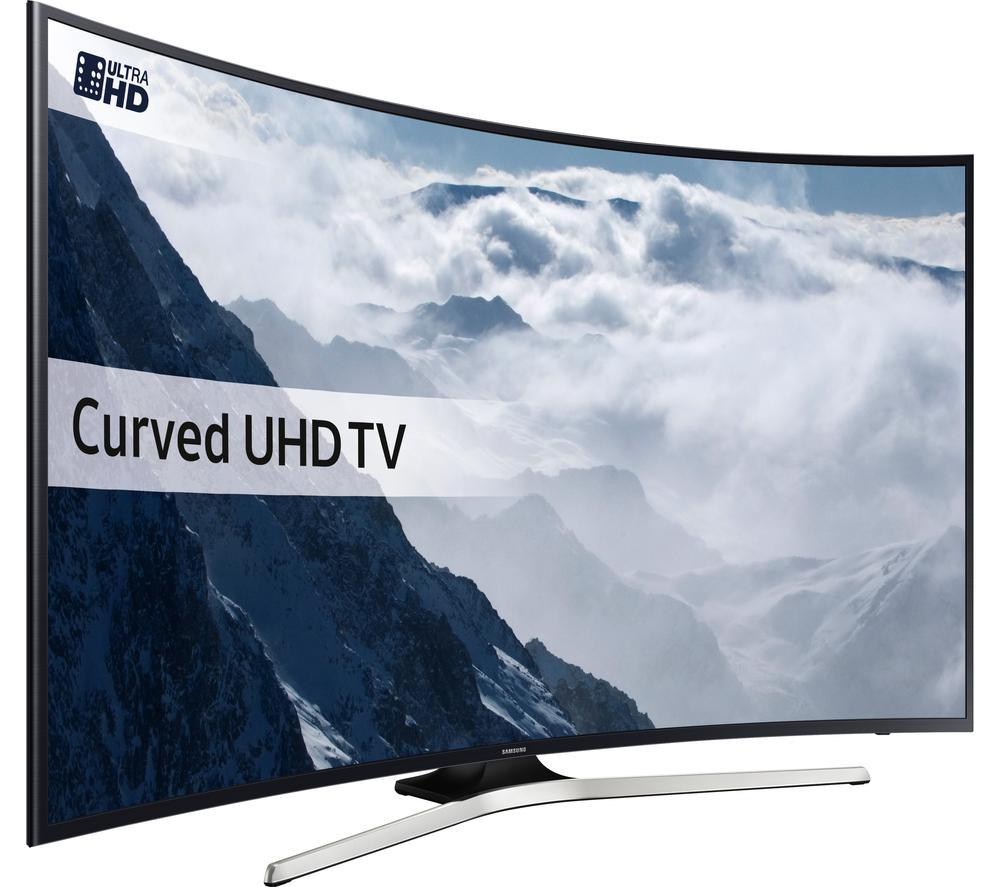 "TV LED 49"" Samsung UE49KU6100 - Smart TV, 4K UHD, Incurvée + 100€ en bon d'achat"