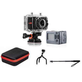 Pack caméra sport PNJ CAM AEE SD18 + Sacoche + Perche + Trépied