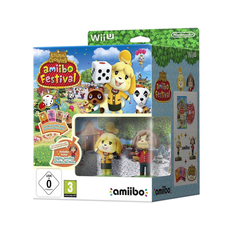 Jeu Animal Crossing Amiibo festival + 2 figures et 3 cartes sur Wii U