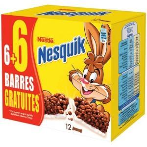 Paquet de 12 barres de céréales Nesquik, Chocapic ou Golden Mini - 12x25g (via BDR)