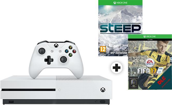Console Microsoft Xbox One S 500 Go + Fifa 17 + Steep