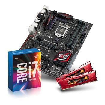 Kit d'évolution : Processeur Intel i7-6700K + Carte mère Asus Z170 Pro Gaming + 16 Go de Ram