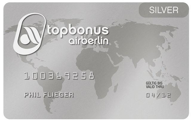 Statut Airberlin Silver / Oneworld Ruby gratuit pour 4 mois